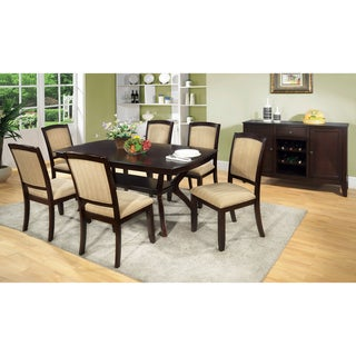 Furniture of America Jalayan Transitional Espresso Finish 7-piece Dinette Set