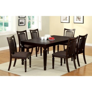 Furniture of America Esme Transitional Espresso 7-piece Dining Set