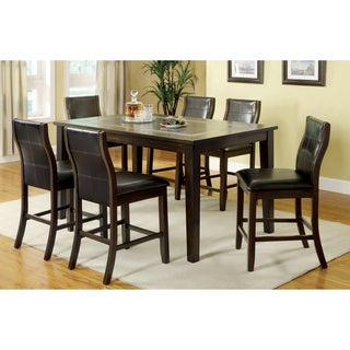 Furniture of America Mayala Contemporary Counter-height 7-piece Dining Set