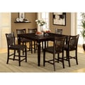 Furniture of America Esme Transitional Espresso Counter-height 7-piece Dining Set
