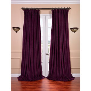 Eggplant Velvet Blackout Extra Wide Curtain Panel