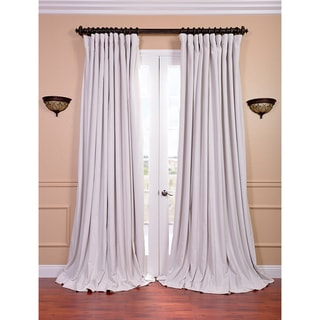 Off White Velvet Blackout Extra Wide Curtain Panel