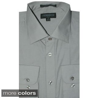 Ferrecci Men's Slim Fit Collared Dress Shirt