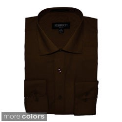 Ferrecci Men's Slim-Fit Collared Button-Front Dress Shirt