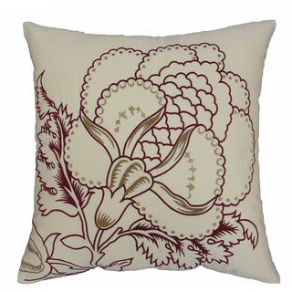 Waverly Imperial Dress Brick 20-inch Embroidered Decorative Pillow