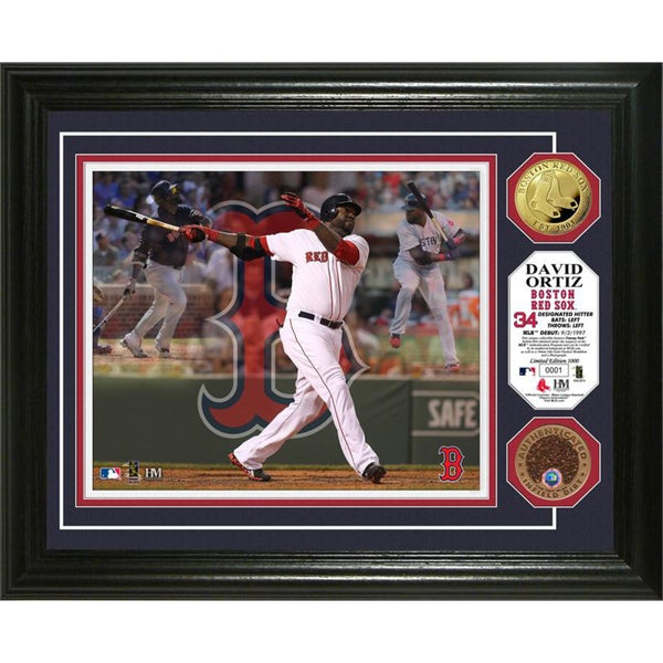 Highland Mint David Ortiz 'Triple Play' Game Used Dirt Coin Photo Mint