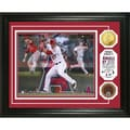 Highland Mint Mike Trout 'Triple Play' Game Used Dirt Coin Photo Mint