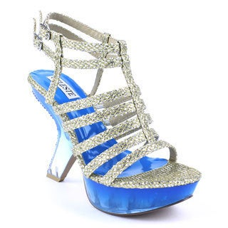 Celeste Women's 'EMILIA-03' Strapped Two-toned Transparent Sandals