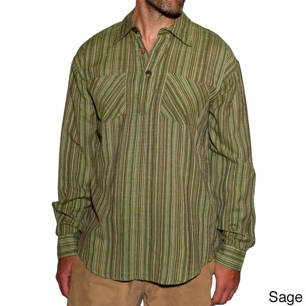 Cotton Men's Stripe Cotton Shirt (Nepal)