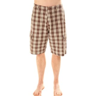 Choco Brown Plaid Men's Shorts (Nepal)