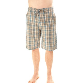 Sea Blue Plaid Men's Shorts (Nepal)