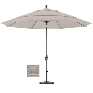 Premium 11-foot Granite Fiberglass Woven Umbrella with 50-pound Stand