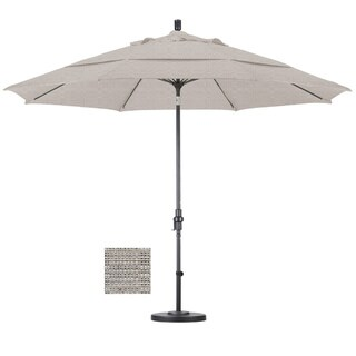 Premium 11-foot Granite Fiberglass Woven Umbrella with 50-pound Stand