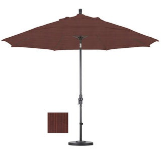 Premium 11-foot Adobe Fiberglass Woven Umbrella with 50-pound Stand