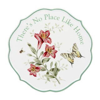 Lenox Butterfly Meadow Sentiment There's No Place Like Home Trivet