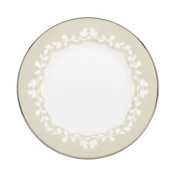 L by Lenox 'Nature's Vows' Leaf Motif China Butter Plate