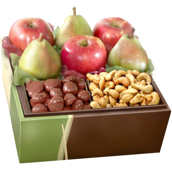 Organic Fruits, Nuts and Chocolate Gift Box