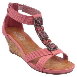 Refresh by Beston Women&#39;s GINNY-10 T-Strap Sandals