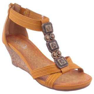 Refresh by Beston Women's GINNY-10 T-Strap Sandals