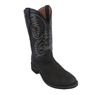 AdTec by Beston Men's 'Crazy Horse' Western Leather Boots