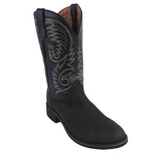 AdTec by Beston Men's 'Crazy Horse' Western Wide Leather Boots