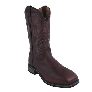 AdTec by Beston Men's Square Steel Toe Western Boots