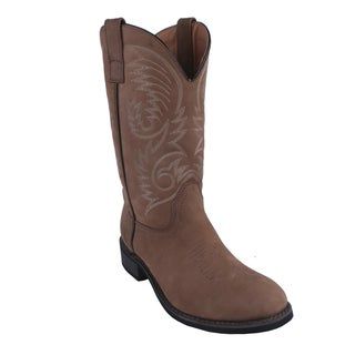 AdTec by Beston Men's Round Toe Western Boots