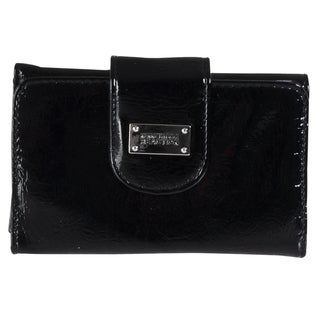 Kenneth Cole 'Reaction' Black Tri-fold Clutch Wallet