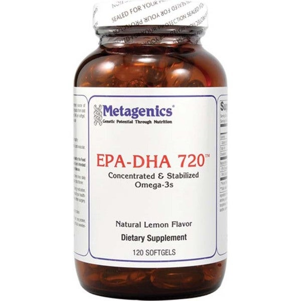 OmegaGenics EPA-DHA 720 Lemon Softgels (120 count)