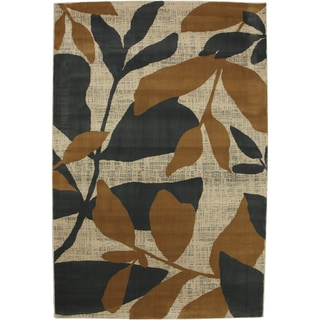 Gold Botanical Ash Grey Rug (5'3 x 7'10)