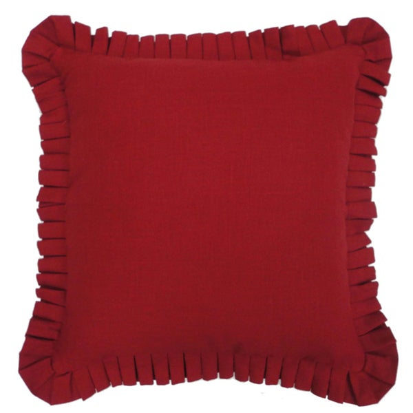 Waverly Felicite Ivory Stacked Red Pleated Pillow