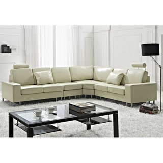 Stockholm Beige Contemporary Design Sectional Sofa by Beliani