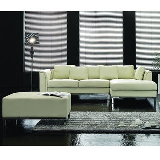 Oslo Beige Modern Design Genuine Leather Sectional Sofa by Beliani