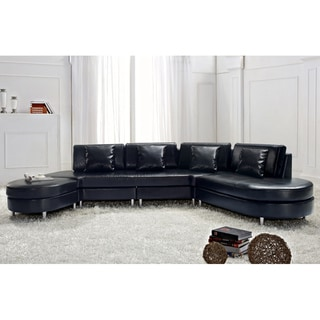 Copenhagen Black Contemporary Italian Design Sectional Sofa by Beliani