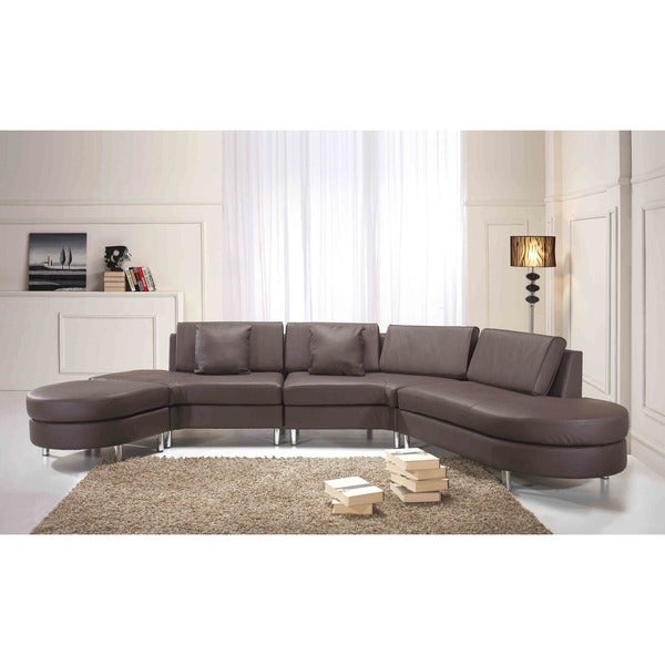 Copenhagen Brown 5 Seat Sectional Sofa Settee Lounge
