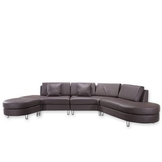 Copenhagen Brown 5-seat Sectional Sofa, Settee, Lounge