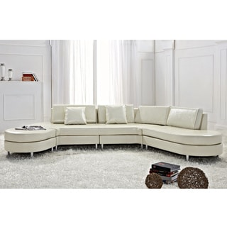 Copenhagen Beige Contemporary Italian Design Sectional Sofa by Beliani