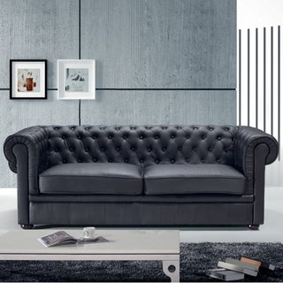 Black Chesterfield Two-seater Sofa
