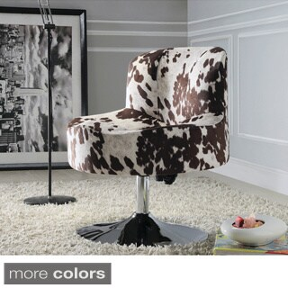 TRIBECCA HOME Bridgeport Ergonomic Contour Swivel Modern Pedestal Accent Chair