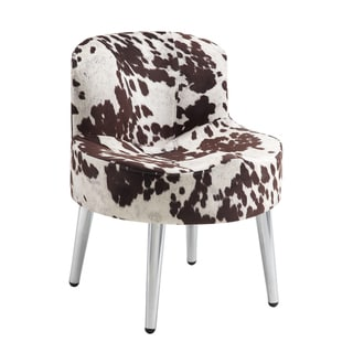 Bridgeport Ergonomic Contour Cowhide Fabric swivel Modern Accent Chair