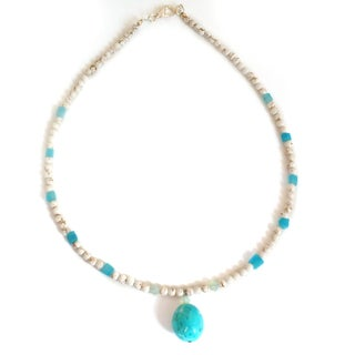 Every Morning Design Turquoise and Aqua Quartz Necklace