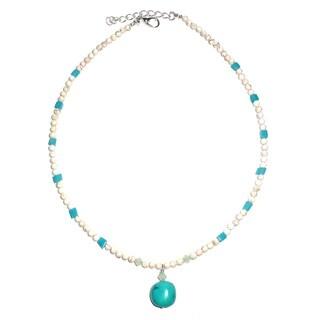 Every Morning Design Turquoise and Aqua Quartz Necklace