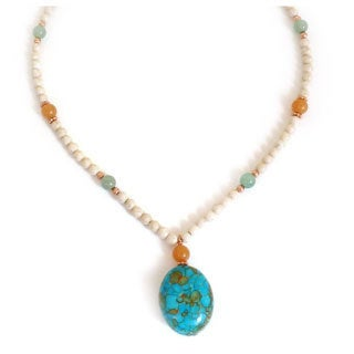 Every Morning Design Turquoise and Aventurine Necklace