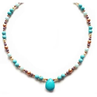 Every Morning Design Turquoise Pastel Colors Necklace