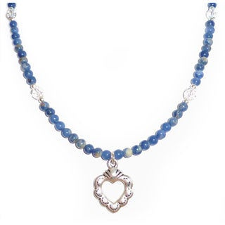Every Morning Design Sterling Silver Blue Sodalite and Heart Necklace