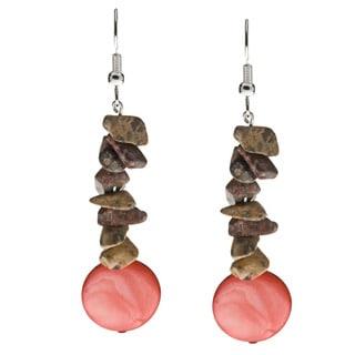 Karla Patin Leopard Print Dangle Earrings