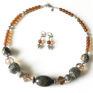 Palmtree Gems 'African Queen' Necklace and Earring Set