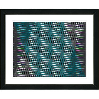 Studio Works Modern 'Placidus - Teal' Framed Print