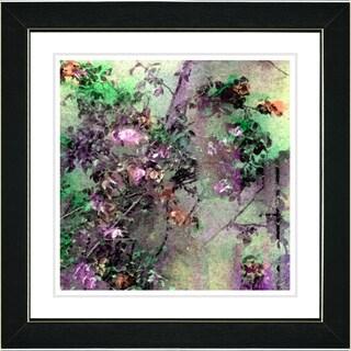 Studio Works Modern 'Rosebush - Pink' Framed Print
