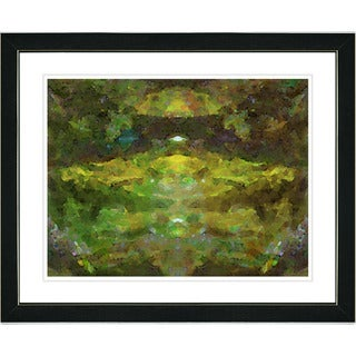Studio Works Modern 'Voice - Green' Framed Print